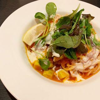 海老とアボカドの冷製トマトスパゲッティ(ピッツェリア馬車道 稲城若葉台店 )