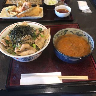 辛豚つけ蕎麦(手打蕎麦 はしば (テウチソバハシバ))
