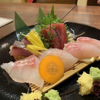 おまかせ刺身5種盛り(オキラク酒場 てて)