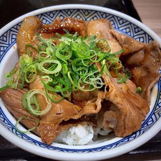 ソース豚肩ロース丼(吉野家 仙台河原町店 )