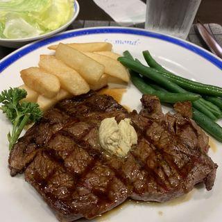 リブロースステーキ定食 150g(ル・モンド )