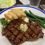 リブロースステーキ定食 150g