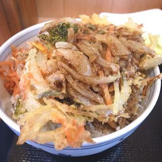 野菜かき揚げ丼(立喰いそば 源)