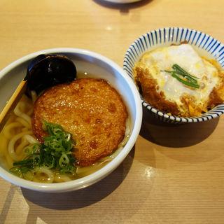 丸天うどん+ミニカツ丼(うどん居酒屋 粋 六本松店)