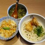 かしわ天うどん(冷)+ミニ親子丼