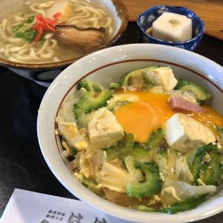 とろ〜り玉子のゴーヤー丼セット(沖縄家庭料理の店はは)