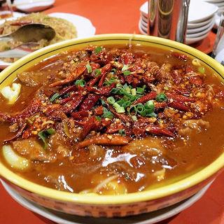 牛肉スライスと野菜の辛塩煮込み(水煮牛肉)(永利 池袋本店 (エイリ))
