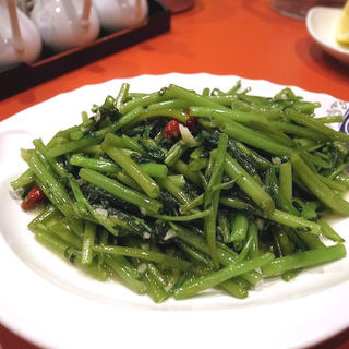 ニンニク入りくうしん菜炒め(蒜蓉空心菜)(永利 池袋本店 (エイリ))