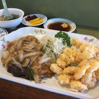 八宝菜小海老天ぷらランチ