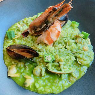 魚介と神戸野菜と神戸米リゾット(神戸イタリアン&ワイン クレイド)