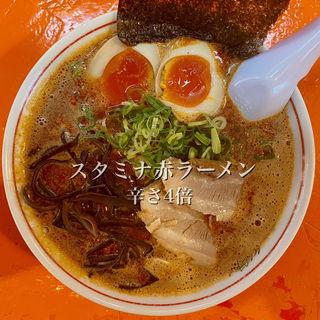スタミナ赤ラーメン 辛さ4倍(二代目 けんのすけ  (【旧店名】けんのすけ 本店))