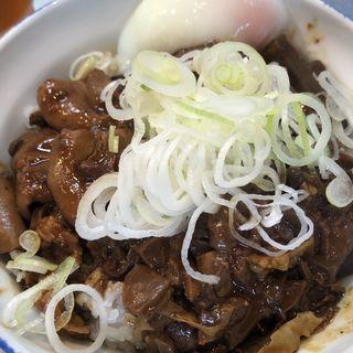ホルモン丼+半熟玉子(きつねや )