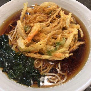 かき揚げ蕎麦(後楽そば 五反田店)