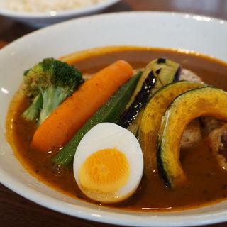 知床鶏野菜スープカレー北海道産(札幌らっきょ)