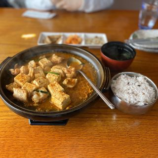 ホルモン辛豆腐定食(韓国風居酒屋 唐辛子 菰野店 (トウガラシ))
