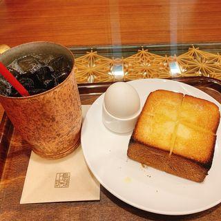 ゆで卵&厚切りバタートースト(上島珈琲店 天神地下街店 )