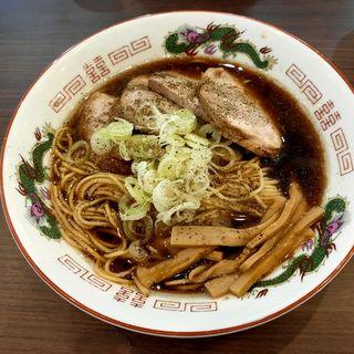 黒醤油らーめん(麺や二代目 夜来香 (イエライシャン))