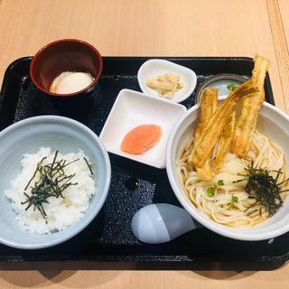 明太卵かけご飯セット(能古うどん 天神ビル店)