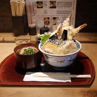 天丼セット(海老2尾)(福ちゃん )