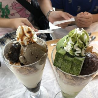抹茶生チョコレートパフェ(nana's green tea)