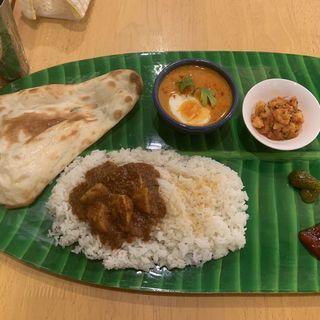 カレーリーフのディナーセット(南インドの味 カレーリーフ )