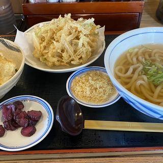 ミニ穴子丼セットとごぼ天(うどんウエスト 八千代台店 )