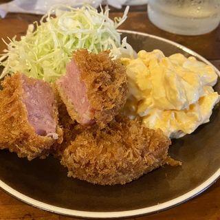 厚切りハムカツと玉子サラダ(サレサイドサカエ)