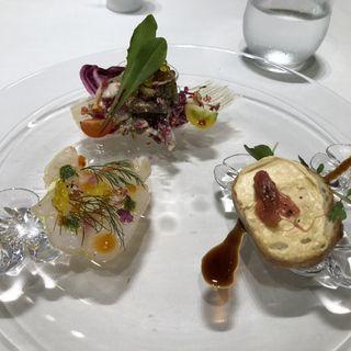 Pranzo C 前菜3種盛り合わせ(リストランテ パドリーノ・デル・ショーザン (PADRINO del SHOZAN))