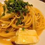 明太子とモッツァレラ入りスパゲッティ