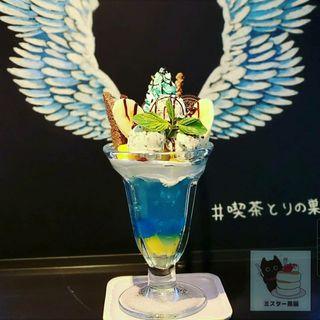 幸せのミントパフェ(喫茶 とりの巣)