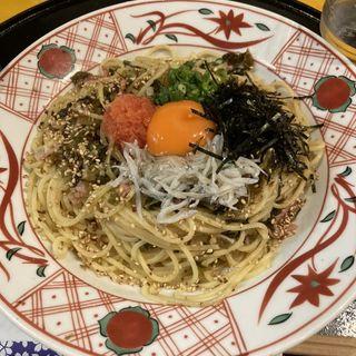 明太子と辛子高菜の博多風