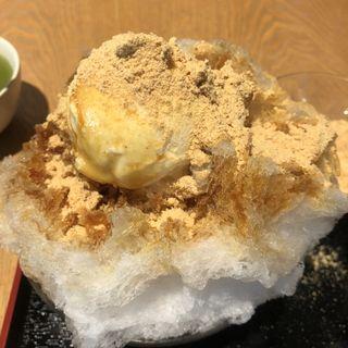 天神 かき氷(船橋屋 亀戸天神前本店 (ふなばしや))