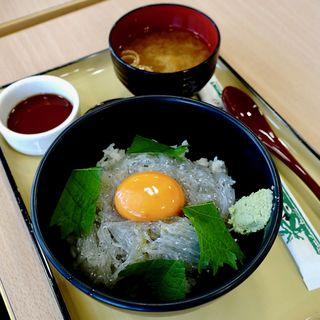 生しらす丼(卵入り)(岬 丘の上食堂)