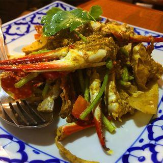 蟹のカレー風味炒め(バーン・プータイ )