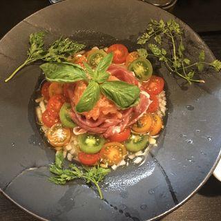 トマトの洋風凉麺(トマトソルベ添え)(晴レル屋 (はれるや))