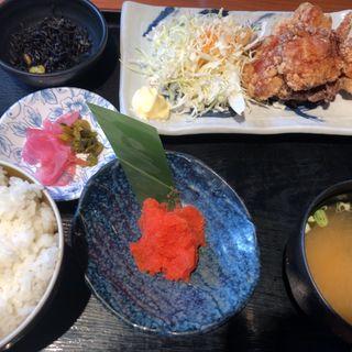 明太子付き唐揚げ定食(薩摩八郎 新宿店 (さつまはちろう))