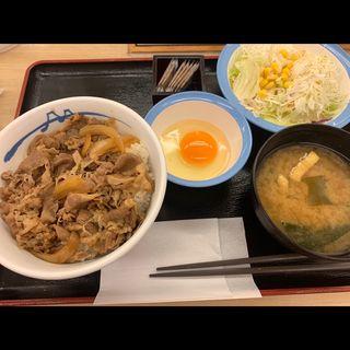 クイックランチ 牛めし生野菜セット(松屋 西新宿8丁目店 (マツヤ))