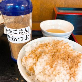 半ライス + 生卵(そばよし 神谷町店 )