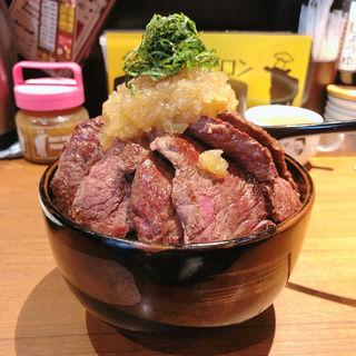 特盛ステーキ丼(1ポンドのステーキハンバーグ タケル 秋葉原店 )