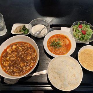エビチリ 麻婆豆腐ランチ(やまちゃん )