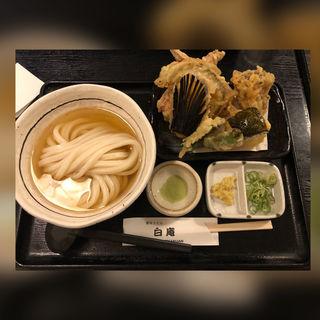 天ぷらセット(讃岐うどん 白庵 (BYAKUAN びゃくあん))