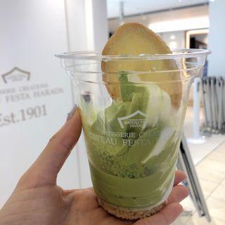 ソフトクリーム・デ・ロワ 抹茶&ミルク(ガトーフェスタハラダ 東京グランスタ店)