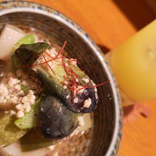 加賀野菜の冷やしそぼろあんかけ(Aticoco)