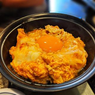 赤い親子丼定食(白金台所 茶わんむし 下釜)