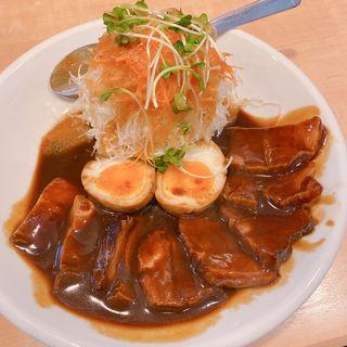 豚ばらの味噌煮込み定食(くま食堂 )