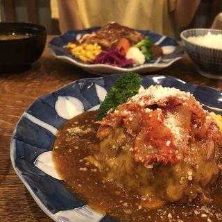 キムチチーズハンバーグ(俺のハンバーグ シュシュ渡辺 )