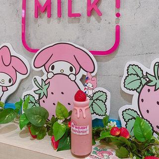 マイメロディミルクボトル 濃厚いちごミルク(MILK MILK MILK! ミルクミルクミルク!)