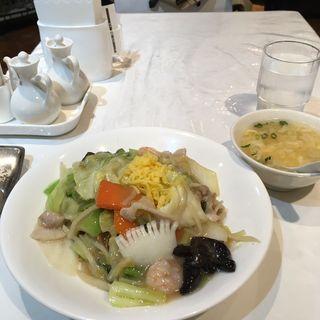 海鮮カタ焼きそば(小洞天 有楽町店)
