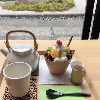 クリームあんみつ(然花抄院 京都室町本店 (ぜんかしょういん)茶寮 Zen Cafe)
