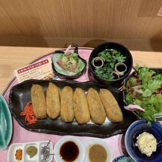 大坂肉いなり定食(ビフテキ重・肉飯 ロマン亭)
